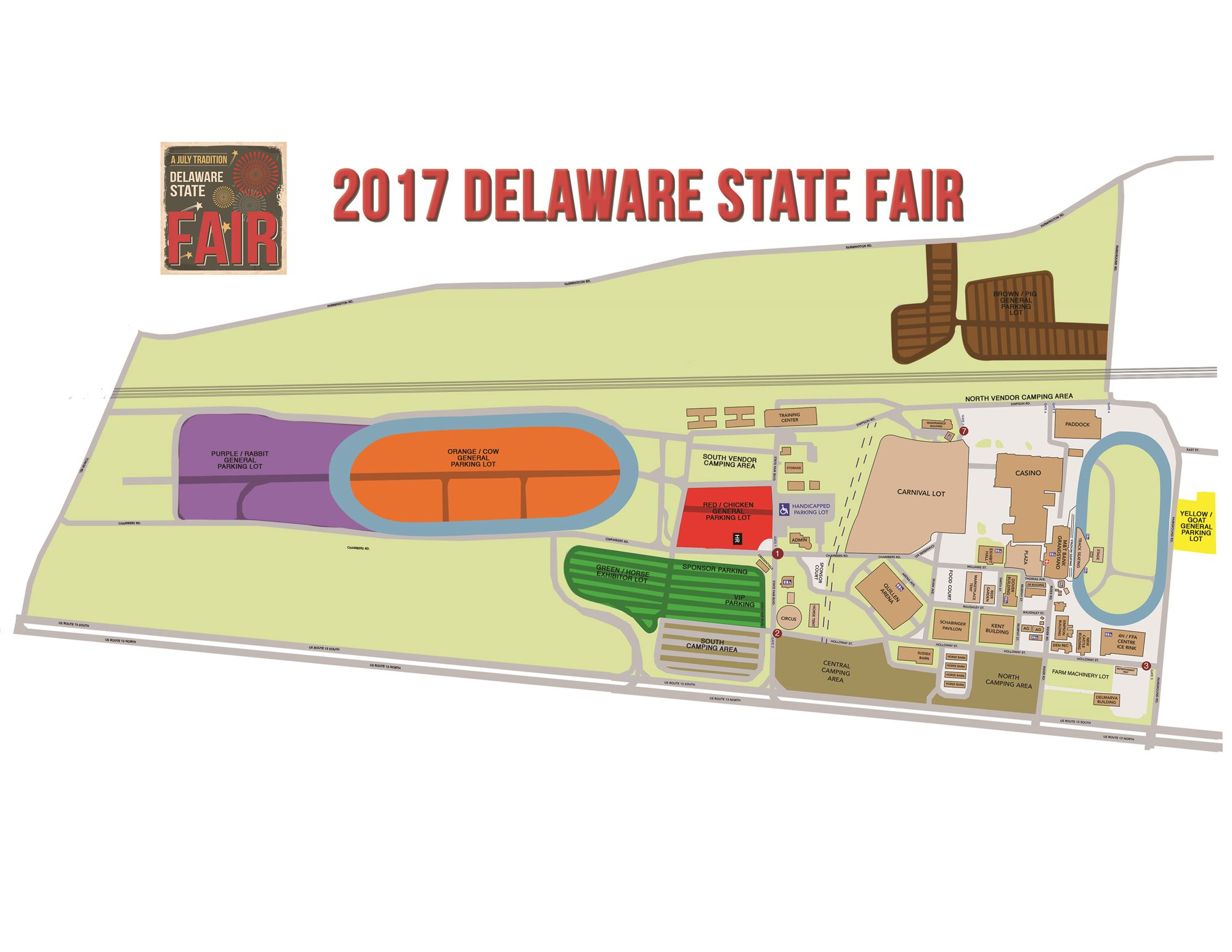 Event map for Harrington craft show 2017