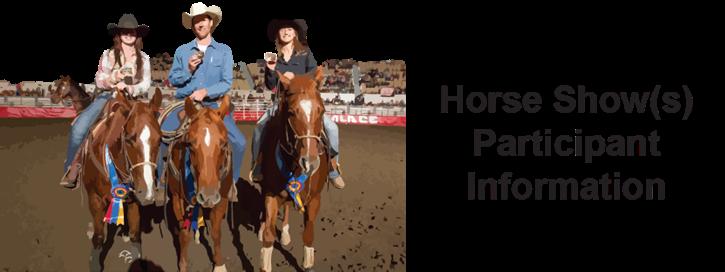 Horse Show Participant Info