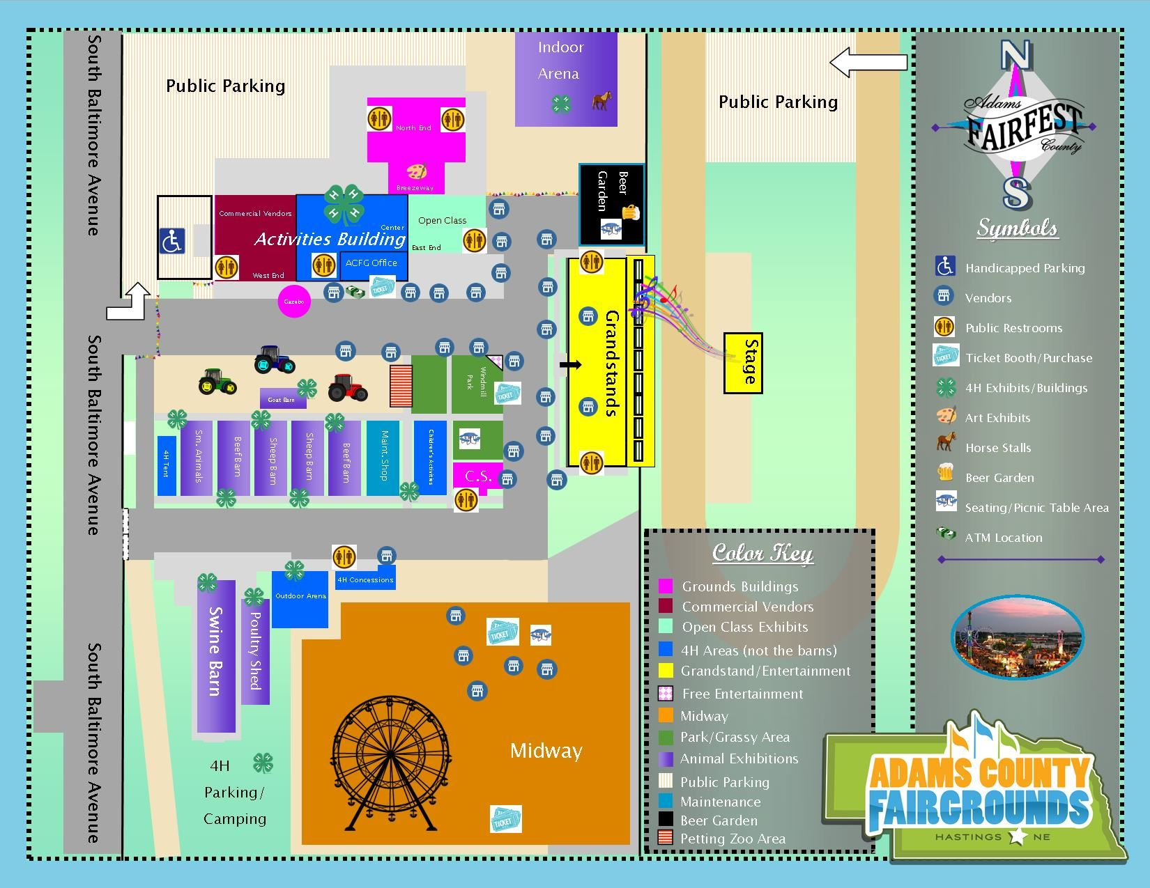 Map of Adams County Fairfest