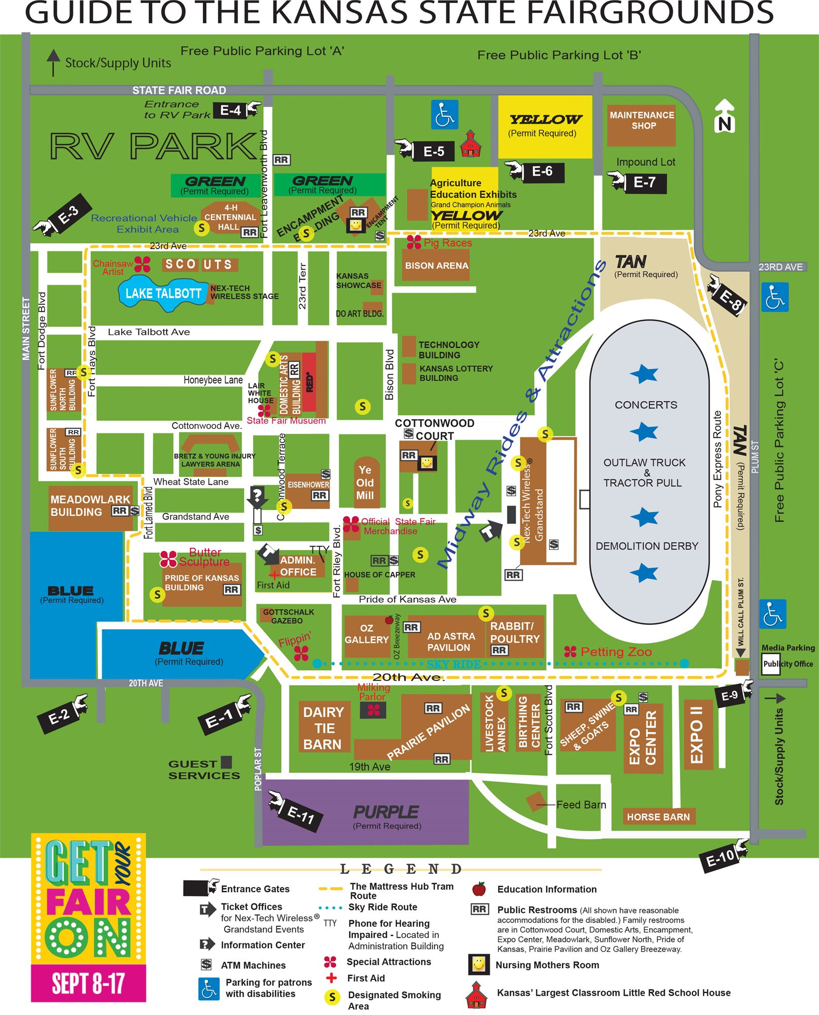 Event Map - Kansas state map