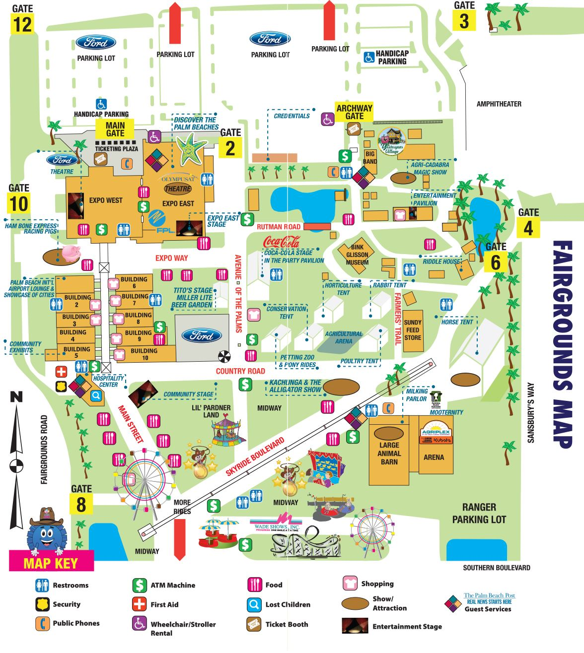 Fairgrounds Map - Florida map beach