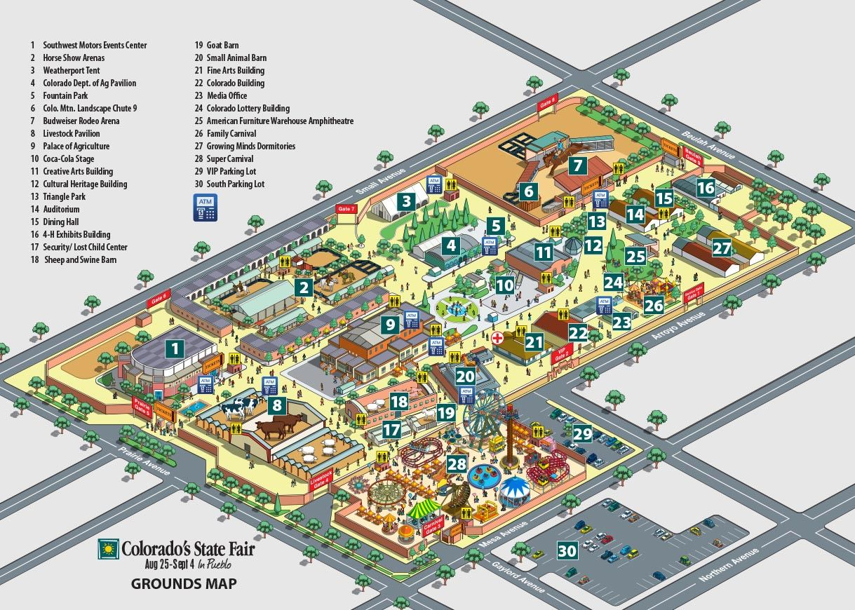 Map Of Fairgrounds - Map for colorado