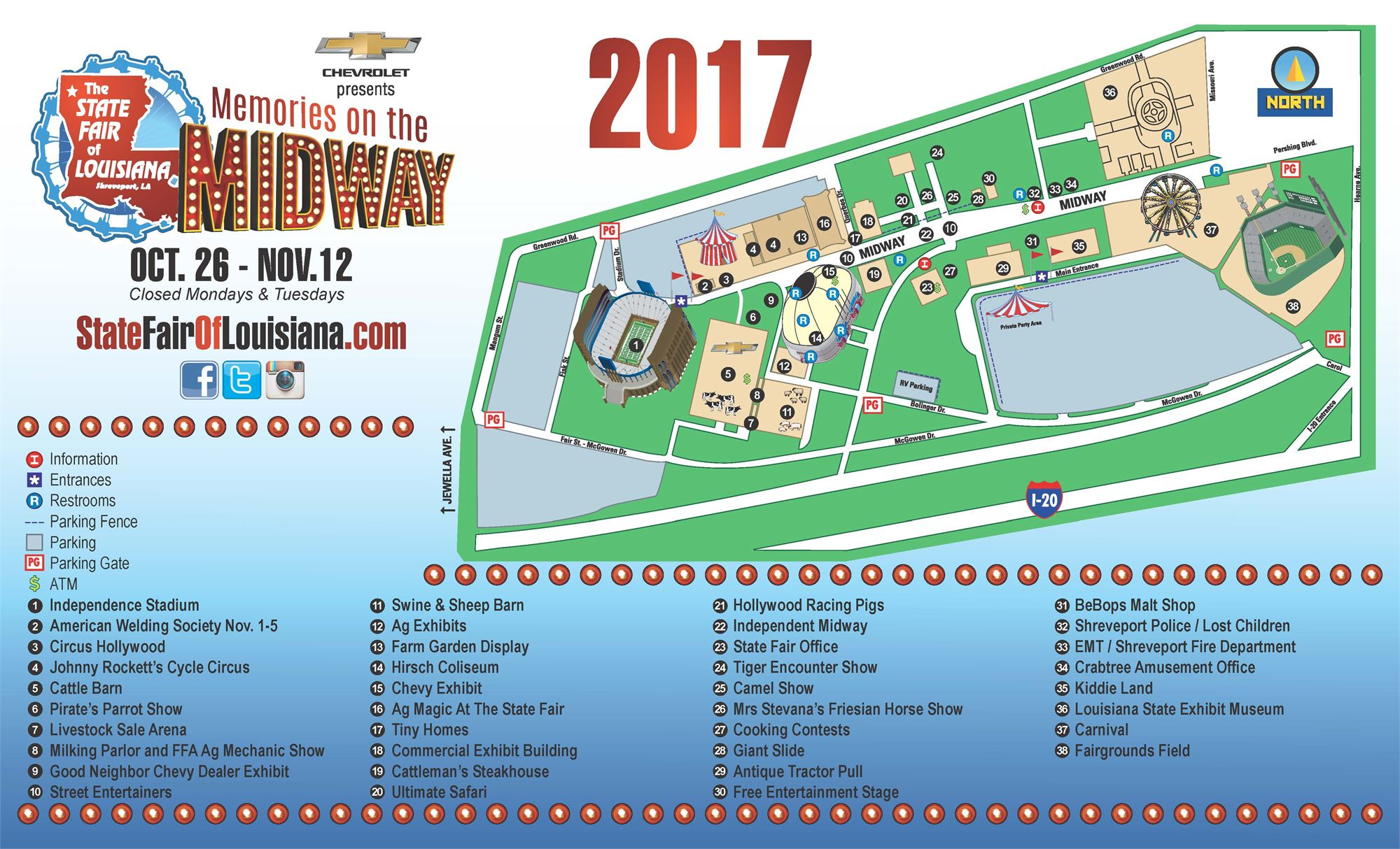 State Fair Map - Louisana state map