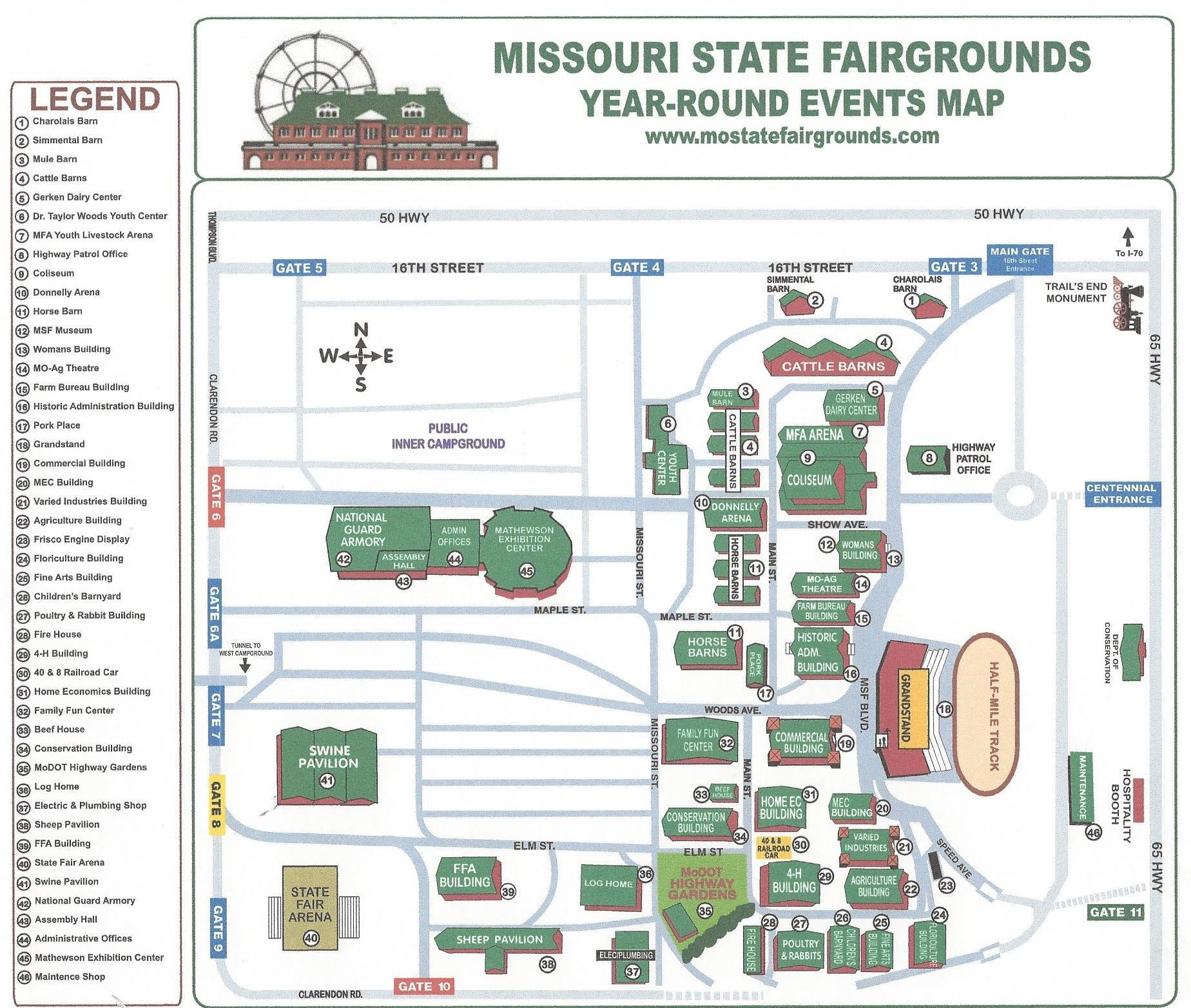 Missouri State Fair - Map of state of missouri